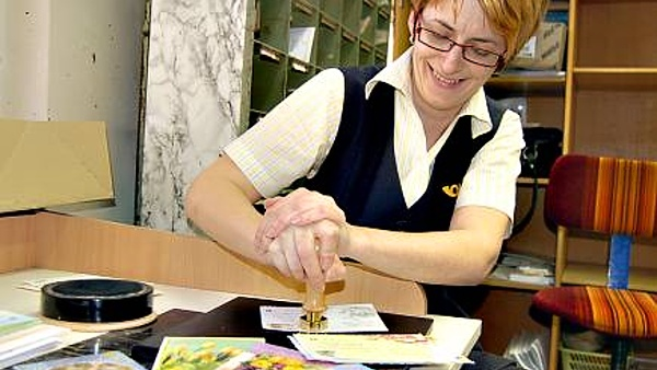 Velikonoční pošta - otisk razítka, Kraslice 2013