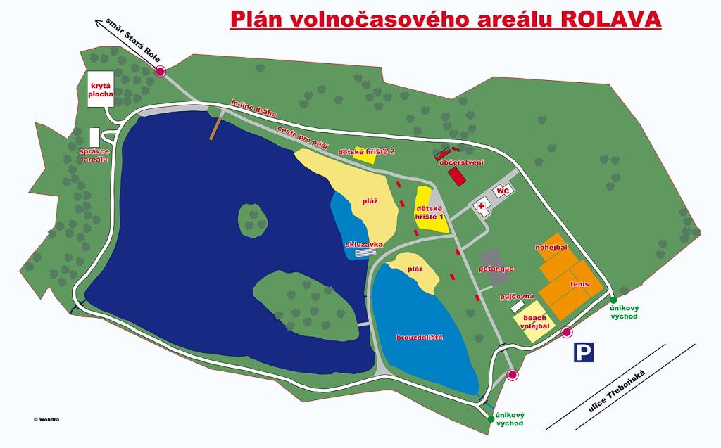 Plánek areálu Rolava | -