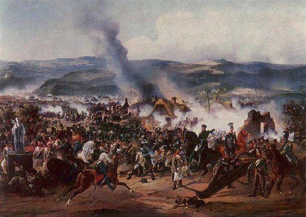 Bitva u Chlumce na obraze ruského malíře A. Kotsebu Foto: Wikipedia, public domain - volné dílo