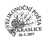 Velikonoční pošta Kraslice 2007