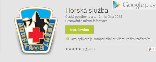 Aplikace Horská služba na obchodu Google play  |  Google play obchod