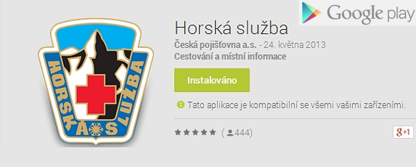Aplikace Horská služba