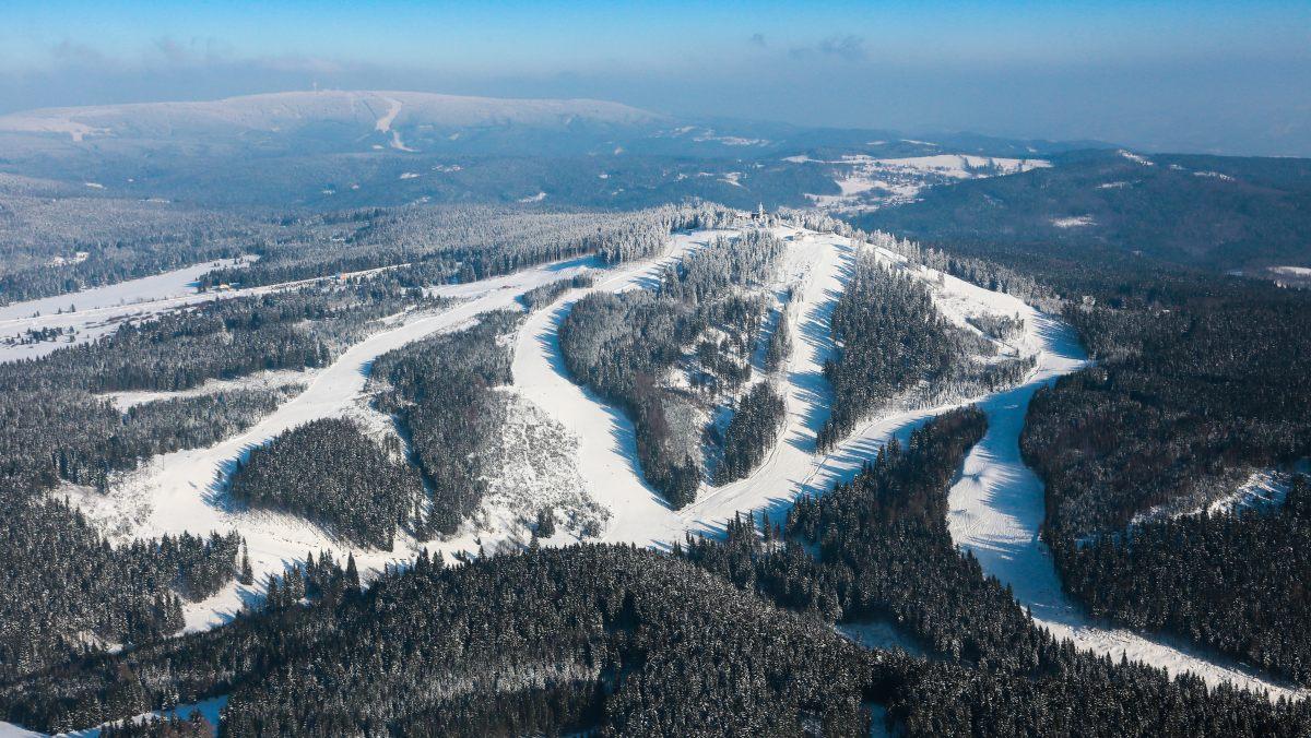 Das neue Skigebiet Plešivec
