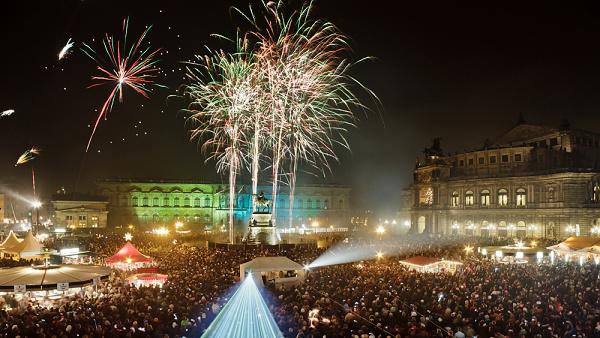Silvestr v Drážďanech
