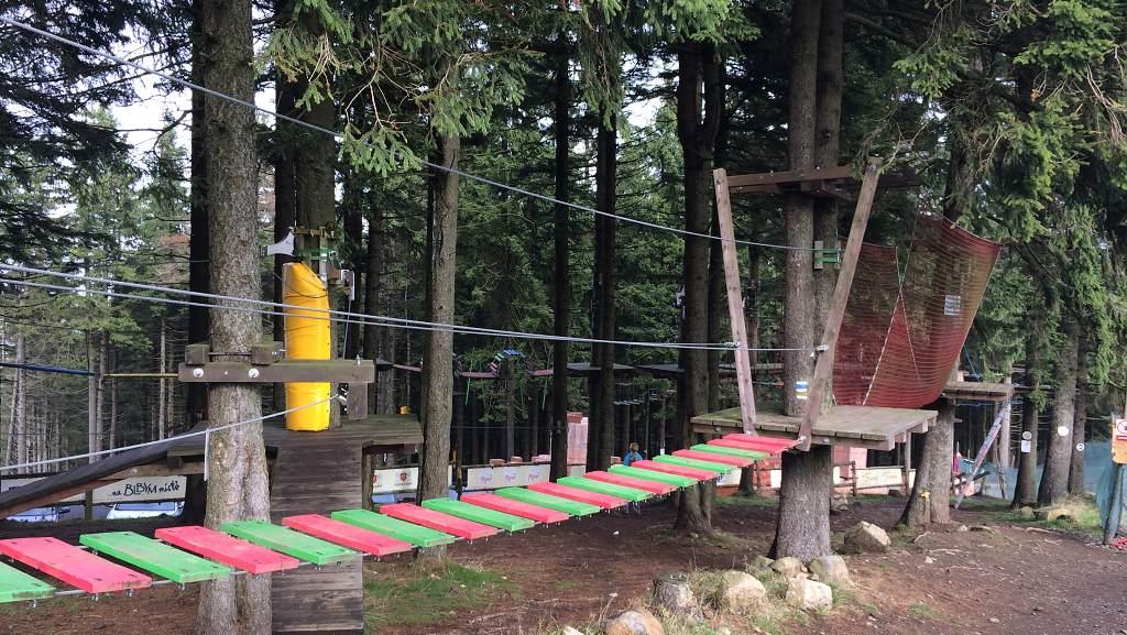 Lanový park na Plešivci | Krušnohorci