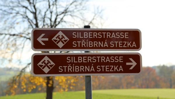 Silberstrasse - značky podél cest