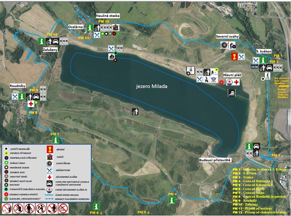 Otevření jezera Milada