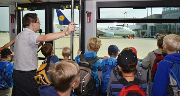 Prohlídky letiště Drážďany