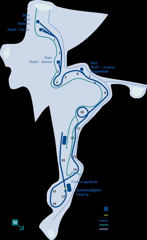 Plán dráhy | ALtenberg Bobbahn