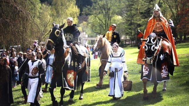 Karel IV. se svou družinou