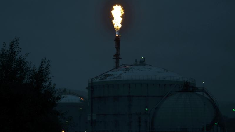 Polní hořák spalující plyny  |  Krušnohorci