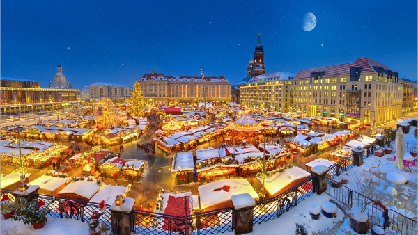 Vánoční trhy v Sasku