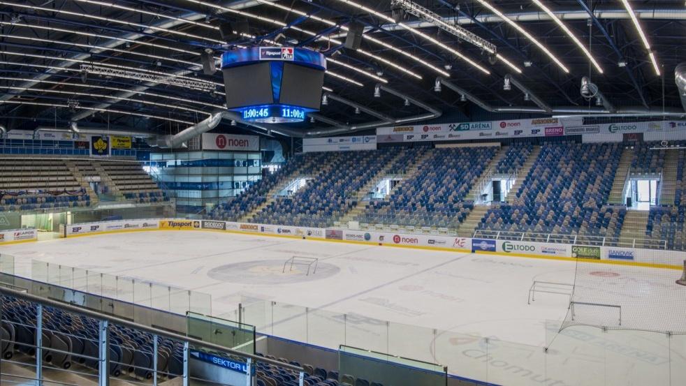 SD Aréna - domov hokejového klubu Piráti Chomutov