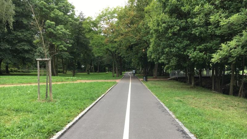 Olejomlýnský park - cyklostezka