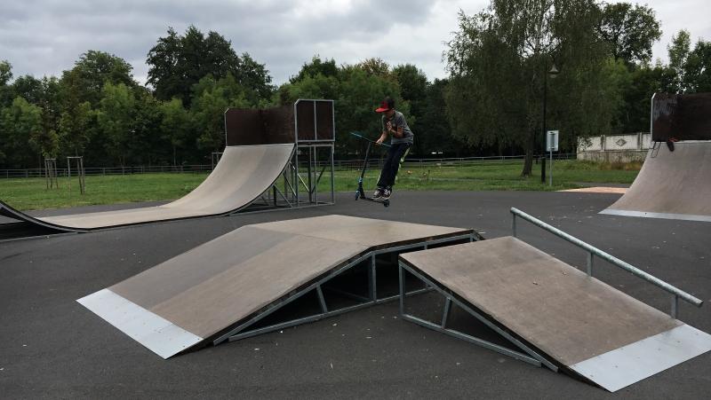 Olejomlýnský park - skatepark | Krušnohorci