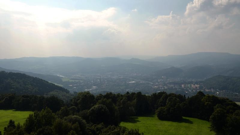 Výhled směr Děčín