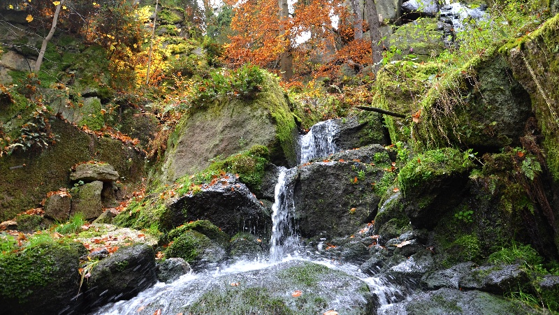 Vodopád Blauenthal | Krušnohorci