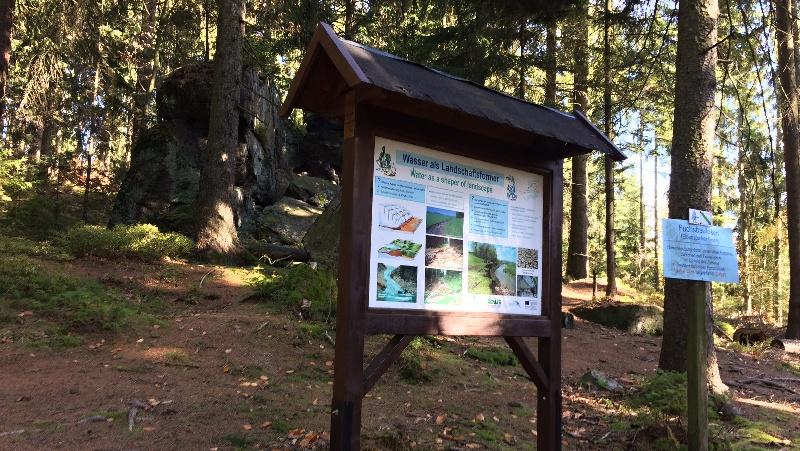 Naučná stezka o vodě u přehrady Eibenstock