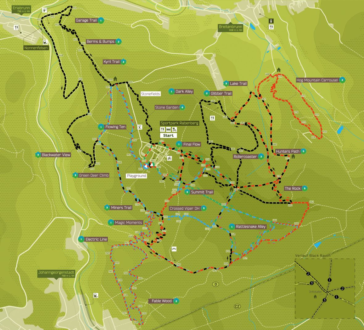 TrailCenter Rabenberg - trasy | TrailCenter Rabenberg