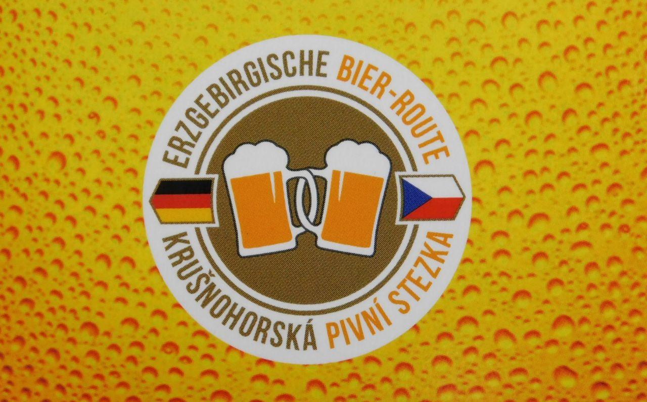 Krušnohorská pivní stezka logo | ---