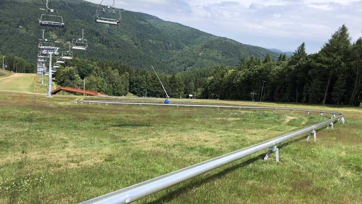 Letní bobová dráha na Klínech   Krušnohorci