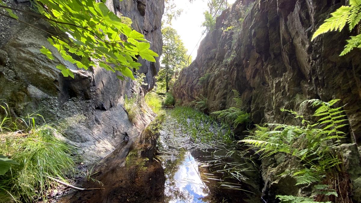 Flájský plavební kanál - průsek skalou | Krušnohorci