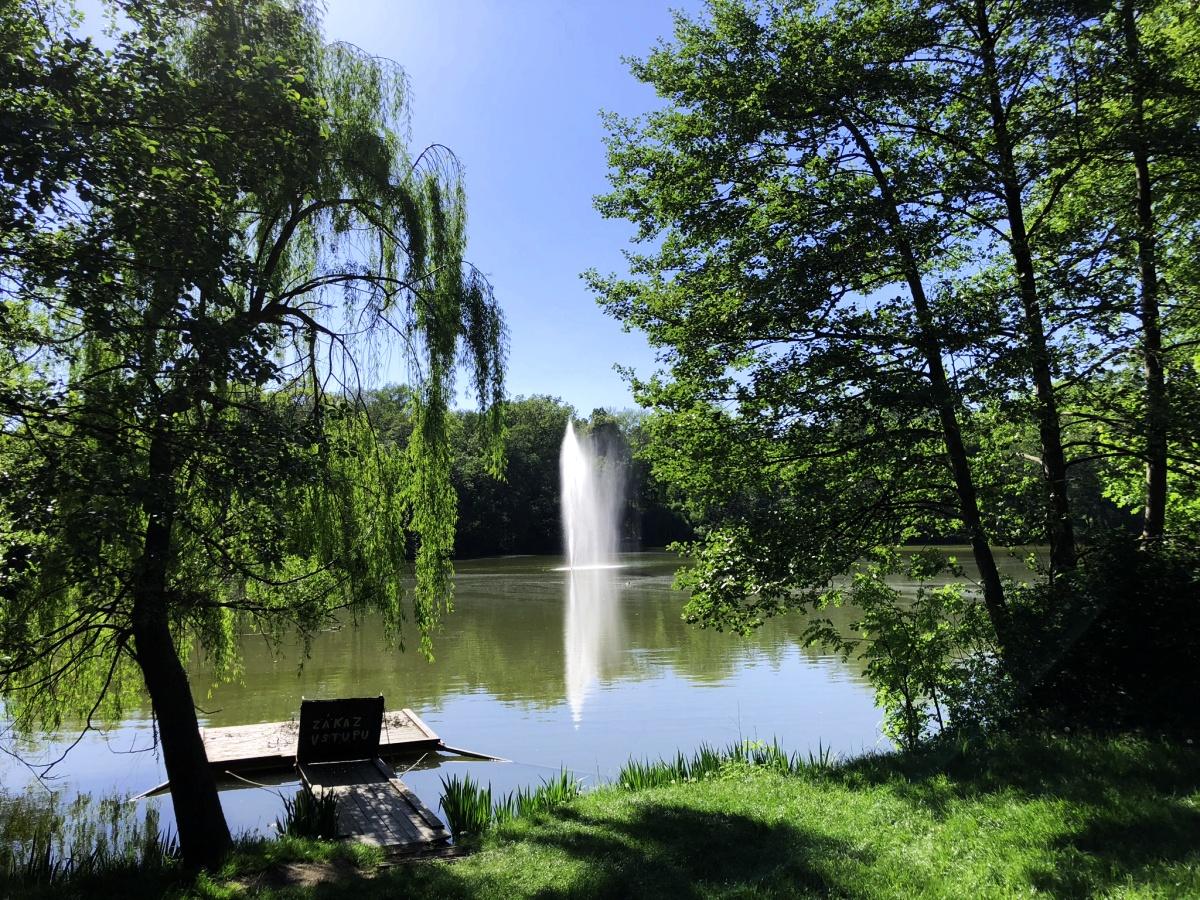 Vodotrysk na Horním rybníce   Krušnohorci